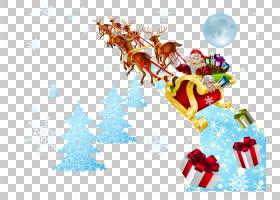 圣诞老人驯鹿雪橇圣诞节,圣诞老人起飞PNG clipart杂项,计算机壁