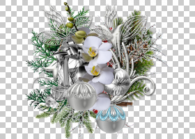 圣诞节生日生日装饰PNG剪贴画假期,摄影,装潢,分支机构,人造花,圣