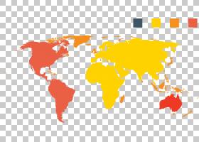 世界地图地球仪,简单地图图案PNG剪贴画摄影,橙色,几何图案,计算