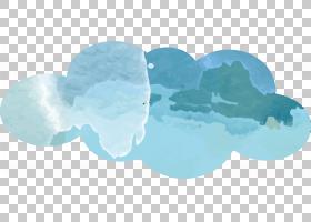 墨云墨云PNG剪贴画水彩绘画,蓝色,云计算,生日快乐矢量图像,晕,墨