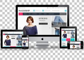 响应式网页设计网页开发,网页设计PNG剪贴画电子产品,小工具,网页