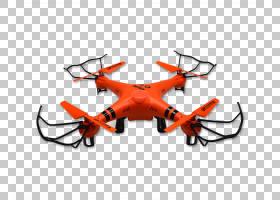 四旋翼无人机直升机水无人机PNG剪贴画鹿角,电子产品,橙色,防水,