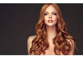 女人,模特,,妇女,女孩,红发的人,长的,头发,口红,蓝色,眼睛,壁纸,图片