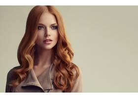 女人,模特,,妇女,女孩,红发的人,长的,头发,蓝色,眼睛,壁纸,图片