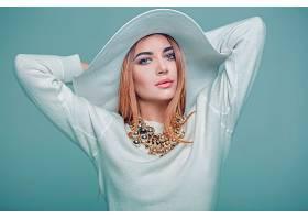 女人,模特,,妇女,女孩,项链,帽子,口红,壁纸,