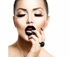 女人,脸,妇女,化妆品,口红,壁纸,