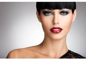女人,脸,妇女,模特,女孩,口红,蓝色,眼睛,壁纸,(1)