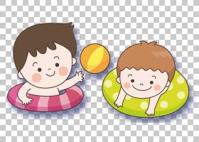 游泳卡通,卡通,微笑,水果,材质,食物,水球,游泳池,排版,游泳,孩子图片