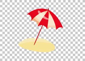 海滩背景,红色,线路,面积,沙艺与游戏,捣碎,雨伞,孩子,海滩,卡通,