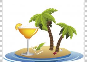 夏树,树,鸡尾酒装饰,鸡尾酒,喝酒,夏天,广告,海滩,休假,