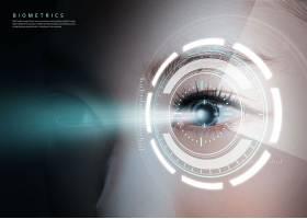互联网信息眼睛识别主题海报设计