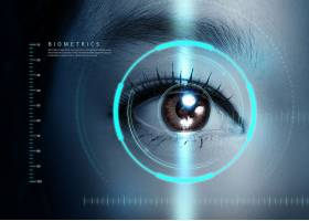 互联网科技信息技术人眼智能识别主题海报设计
