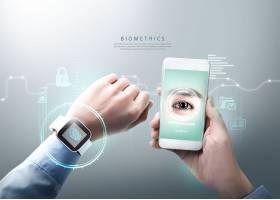 互联网科技信息技术指纹智能识别主题海报设计