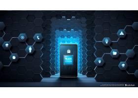 互联网科技信息技术区块链主题海报设计