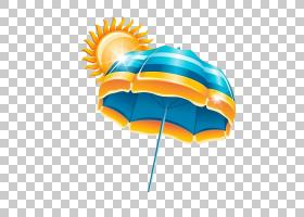 夏季绘画,线路,橙色,夏天,动画,卡通,绘图,雨伞,