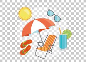 夏季背景设计,线路,橙色,黄色,面积,夏天,平面设计,夏季,海滩,