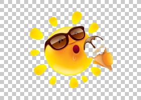 夏季太阳镜,幸福,微笑,橙色,黄色,眼镜,笑脸,食物,太阳镜,幽默,绘