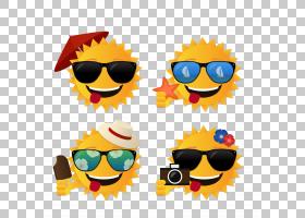 夏季海报背景,图标,眼镜,黄色,眼镜,笑脸,太阳镜,字体,表情,海报,