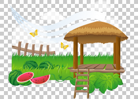 夏季海报背景,家具,表,室外结构,草,夏天,福井,海报,动画,哈密瓜,