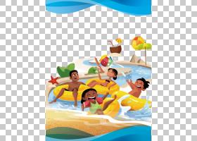 夏季海报背景,有趣,休闲,休假,充气,娱乐,夏天,播放,卡通,公园,海