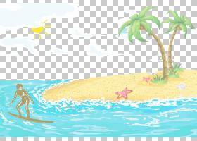 夏季海报背景,海洋,水上运动,生态系统,娱乐,线路,休闲,水,波浪,