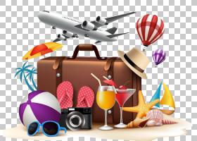 夏季海报背景,飞机,食物,绘图,夏天,旅行,海滩,休假,海报,暑假,