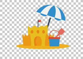 卡通城堡,字体,线路,橙色,黄色,面积,沙堡,雕塑,海滩,沙子,沙艺与