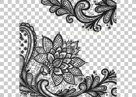 黑白花,黑白,绘图,字体,线路,设计,花,主题,模式,临时纹身,植物群