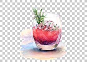 水彩画,装饰,鸡尾酒装饰,水果,超级食品,冲孔,海风,非酒精饮料,甜