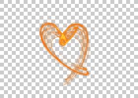 透明和透明淘宝心形线条灯光效果PNG剪贴画效果,橙色,心,灯光效果