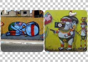 涂鸦绘画艺术音乐OSGEMEOS涂鸦PNG剪贴画文化,壁画,涂鸦,绘画,说