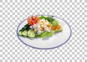 素菜色拉拼盘西式色拉拼盘PNG clipart叶蔬菜,食品,食谱,番茄,矢