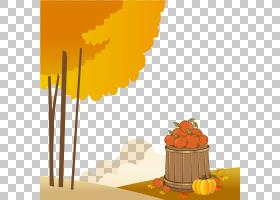 秋天的欧几里得插图秋天的收获南瓜PNG剪贴画摄影,橙色,收获,计算