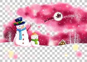圣诞老人圣诞节雪人插图圣诞节雪人PNG剪贴画杂项,冬季,计算机壁
