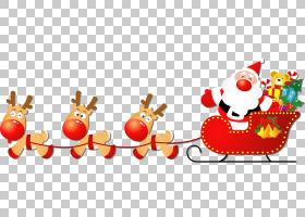 圣诞老人的驯鹿圣诞老人的驯鹿雪橇圣诞节,销售贴纸PNG剪贴画鹿角