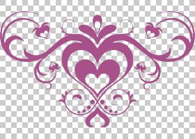 手绘花PNG剪贴画爱,紫色,文字,摄影,心脏,对称性,花,品红色,买断