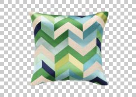 投掷枕头Aqua蓝绿色坐垫,绣有PNG剪贴画家具,纺织,房间,茶色,扔枕