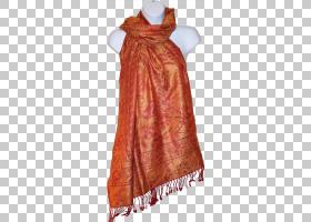 披肩围巾帕什米纳真丝佩斯利披肩PNG剪贴画橙色,格子呢,水果坚果,