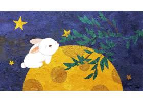 中秋玉兔插画