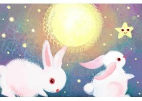 兔子与月亮插画