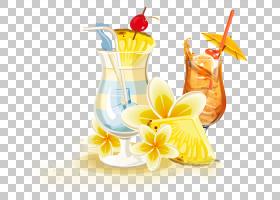 柠檬水剪贴画,鸡尾酒装饰,黄色,食物,液体,柠檬水,海报,含酒精饮