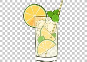 柠檬绘图,鸡尾酒装饰,线路,柠檬柠檬,水果,食物,植物,绘图,柠檬汁