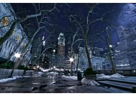 城市,城市,新建,约克,美国,冬天的,壁纸,图片