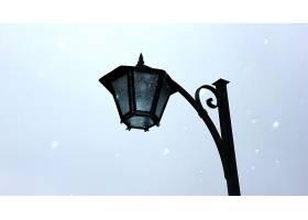 灯,张贴,冬天的,雪,壁纸,图片