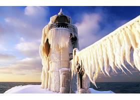 灯塔,建筑物,冬天的,密歇根,壁纸,图片