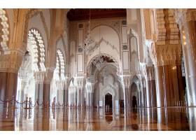 建筑物,建筑物,地面,清真寺,反射,体系结构,内部,壁纸,