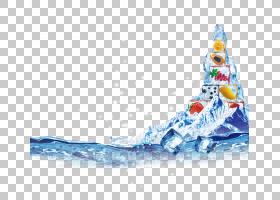冰山卡通,滑雪器材,线路,冬天,蓝色,蓝色冰山,冰块,Auglis,水果,图片
