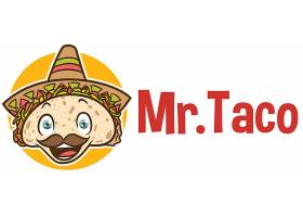 墨西哥风情披萨主题形象LOGO设计