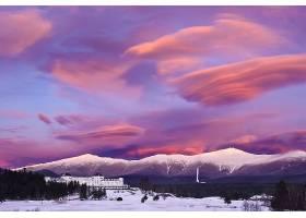 增加,华盛顿,饭店,冬天的,雪,凭借,山,天空,云,日落,壁纸,图片