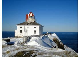 灯塔,建筑物,冬天的,雪,壁纸,图片